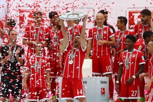 Bayern celebrate their latest league win